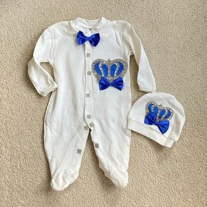 Other - 0-3 months boys fancy pajamas with hat